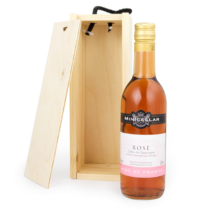 Image of 1/4 Bottle Wooden Wine Box