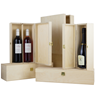 Image of Two Bottle Hinged Wooden Wine Box