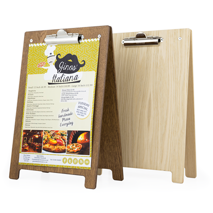 Image of Menu Holder Clipboard A-Frame