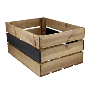 Image of Large Crate with Chalkboard Panel