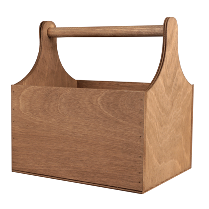 Image of Gold Cedar Large Wooden Trug