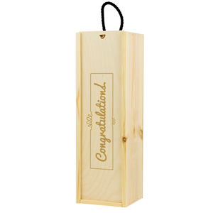 Image of Congratulations Printed Wine Box