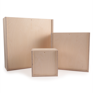 Image of Sliding Plywood Boxes