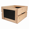 Image of Rustic Slatted Crates with Chalkboard Ends