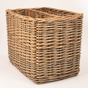 Image of Tall Antique Magazine Holder Basket