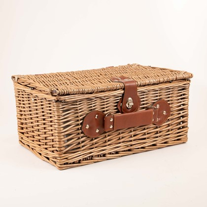 Image of 2 Person Lined Picnic Basket