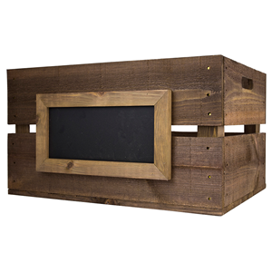 Image of Large Wooden Crate with Chalkboard