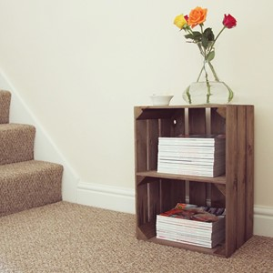 Image of Large Rustic Crate with Shelf (Portrait)