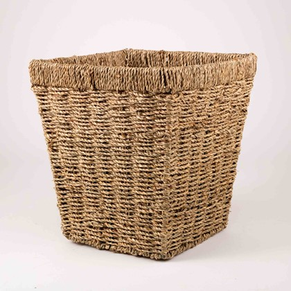 Image of Seagrass Square Paper Basket